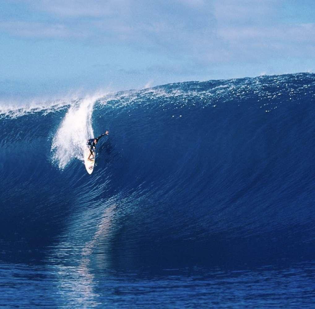 CJ Hobgood surfing in Tahiti. Photo courtesy of  CJ Hobgood.