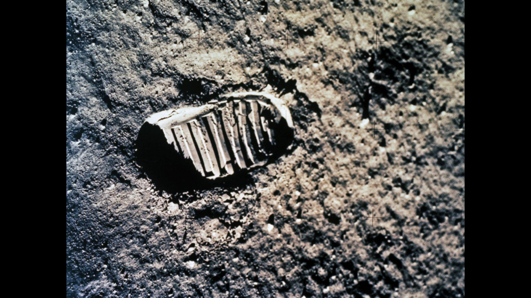 An Apollo astronaut's footprint on the moon. Scientists says there's a good chance the Apollo moon-walker footprints are still there, 50 years later. Photo: NASA