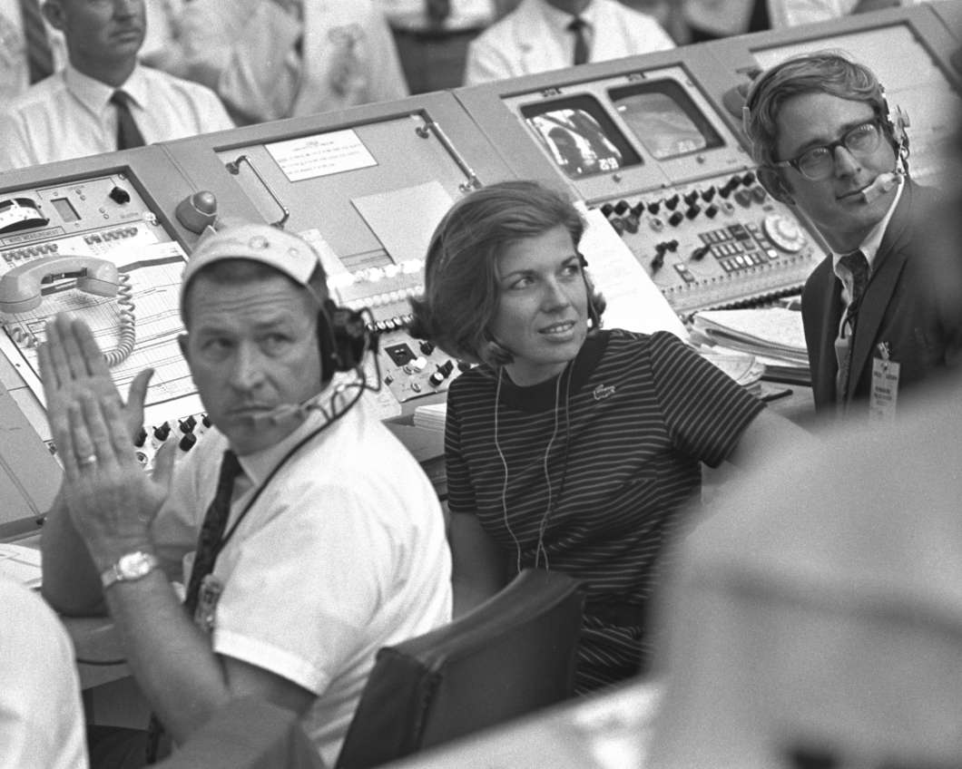 JoAnn Morgan was the only woman in the launch firing room during the launch of Apollo 11. Photo: NASA
