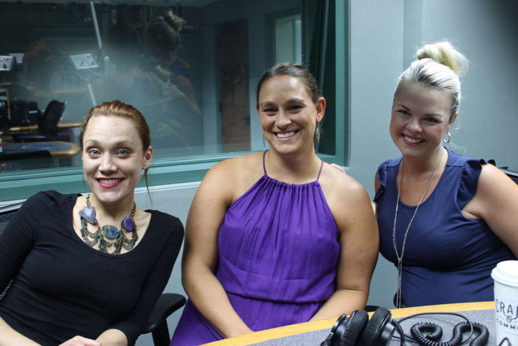 (From Left to Right) Nicole Dupre, Pam Schwartz and Theresa Smith-Levin in studio to talk about The Mikado. Photo: Matthew Peddie.
