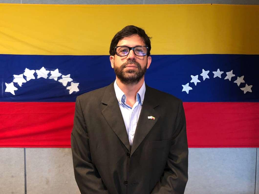 Ignacio Carrasquero is a representative of the opposition party in Venezuela, and coordinator of the Voluntad Popular project in Orlando. Photo by Easton Underdahl
