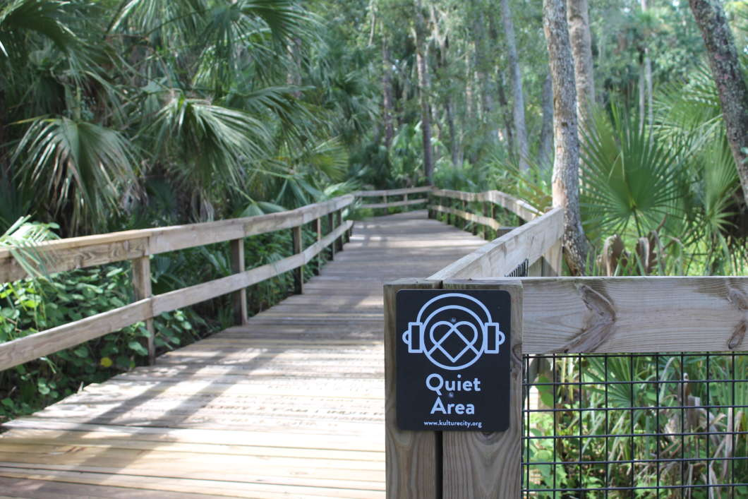 """One of the designated """"Quiet Areas"""" at the Central Florida Zoo and Botanical Gardens.  Photo by Jordyn Markhoff"""