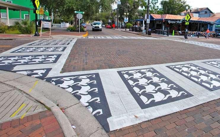 Image: Swan Crosswalk, City of Orlando/Facebook, Orlando weekly.com