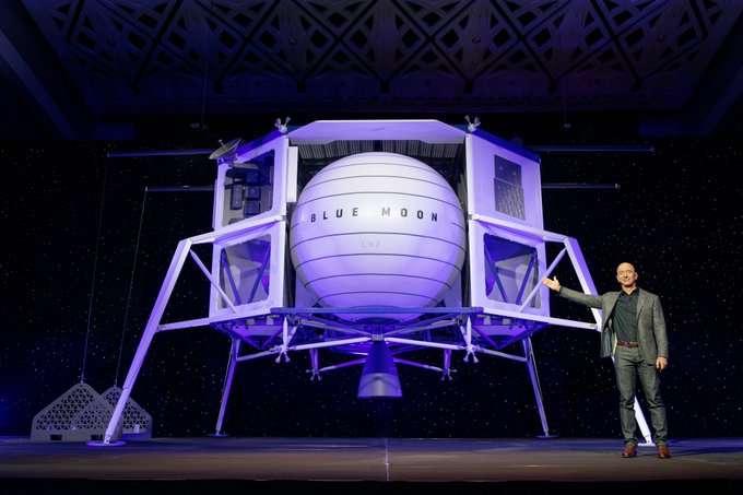 Blue Origin announced big plans for its lunar ambitions at IAC 2019. Photo: Blue Origin.