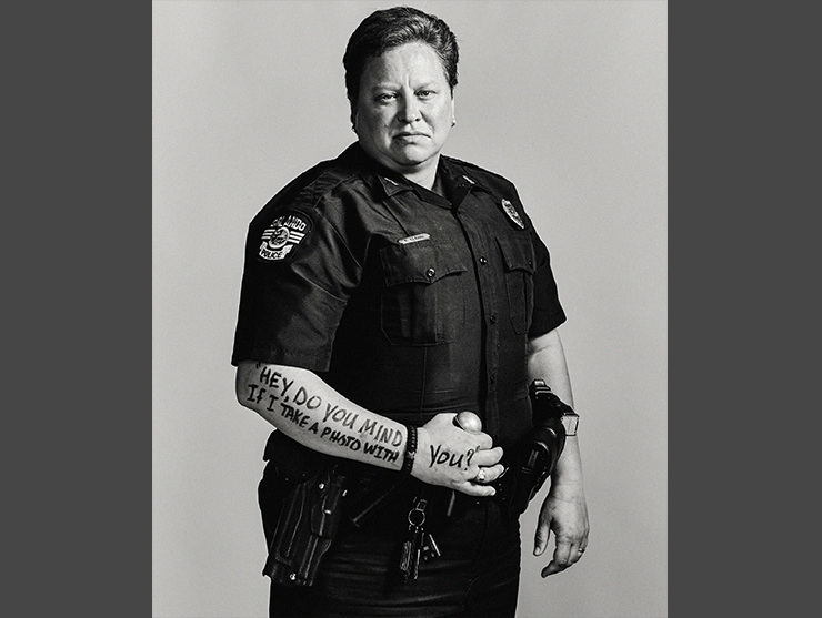 Orlando Police Department Officer Alison Clarke posed for a Dear World project in 2017 that featured portraits of people affected by the shooting at Pulse in 2016.