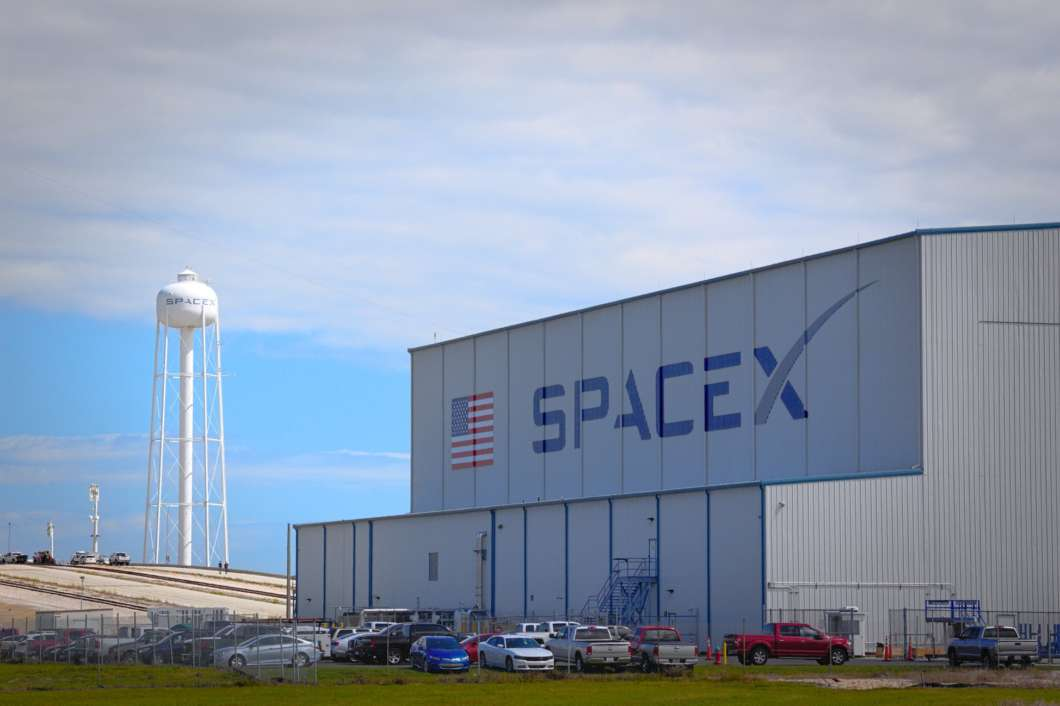 SpaceX's launch pad and hanger at Kennedy Space Center. Photo: Brendan Byrne, WMFE