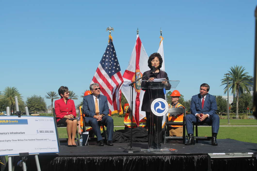 Secretary of Transportation Elaine Chao was in town to announce BUILD grant recipients. Photo: Danielle Prieur