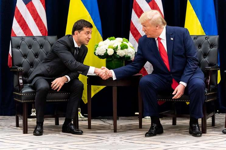 Image: U.S. President Trump (right)  Ukrainian President Zelensky (left), Official White House Photo by Shealah Craighead