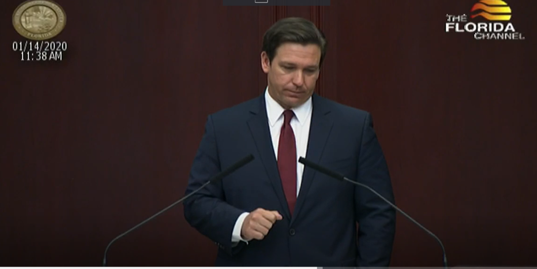 Florida Gov. Ron DeSantis gave the 2020 State of the State address today.