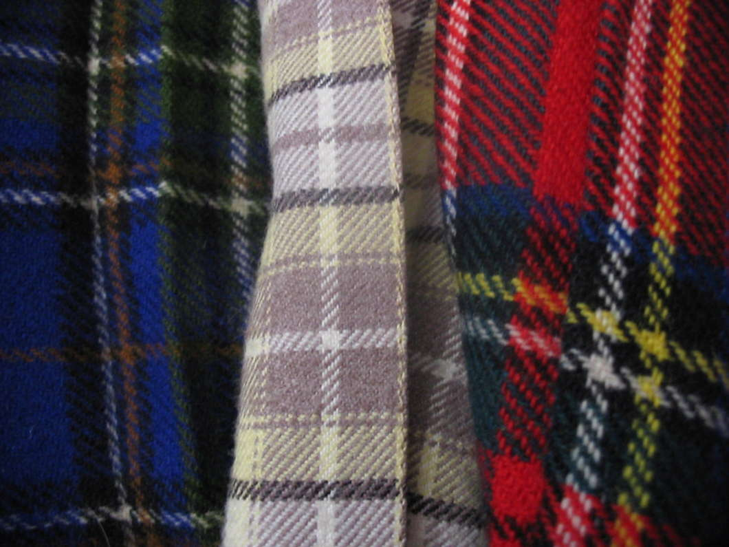 Three tartans photo courtesy of Wikimedia Commons