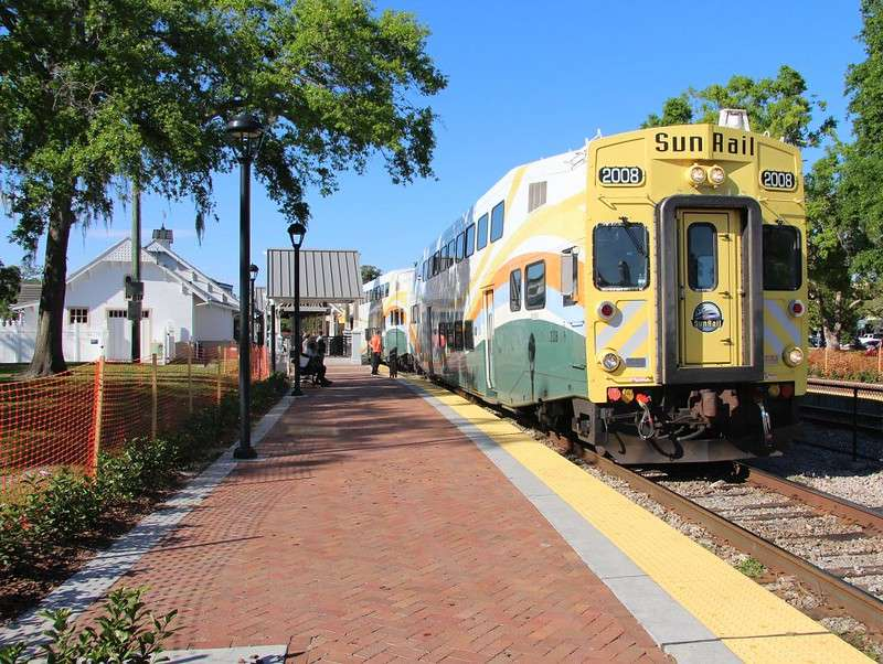 SunRail pulls into Winter Park, Florida. Photo: Flickr Creative Commons