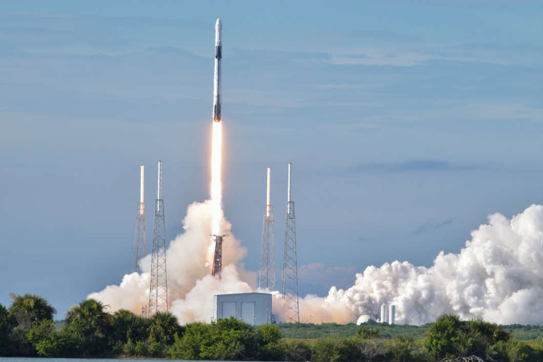 Melbourne-Palm Bay's economy got a boost in 2019 from the space industry. Photo: a SpaceX Falcon 9 CRS-18 rocket launched at Cape Canaveral Air Force Station, Florida, July 25, 2019 (U.S. Air Force photo by Airman 1st Class Dalton Williams)