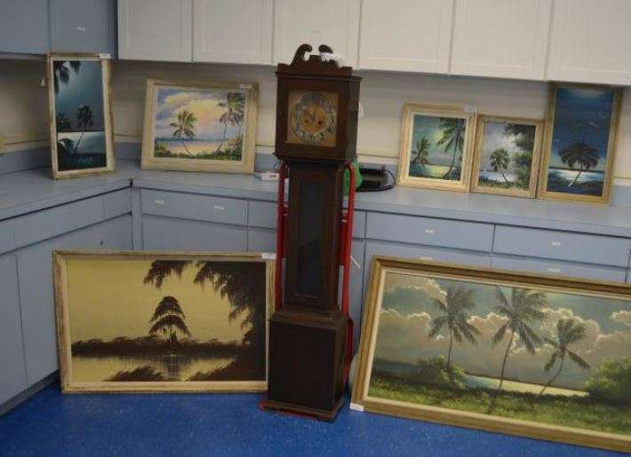 The Melbourne Police Department has recovered several Highwaymen paintings, a clock and a vase reported stolen over the summer. Photo: Melbourne PD
