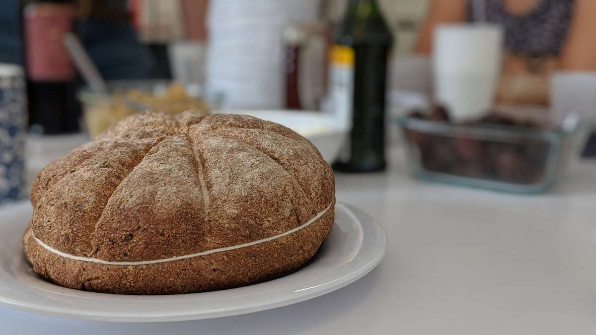 Bread made with a recipe from Pompeii. Photo courtesy of Orlando Science Center