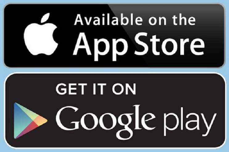 Image: Google Play and Apple App store logos