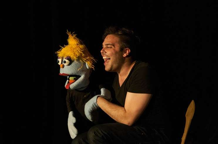 Photo by Lilly Hastings 'Baker's Dozen: 12 Angry Puppets,' starring Adam Francis Proulx