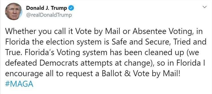 Image: Tweet by President Trump, twitter.com
