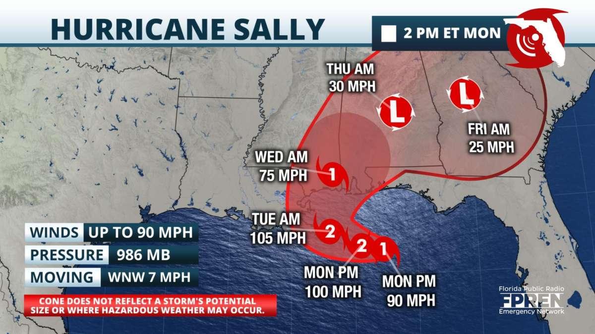 Sally Brings Heavy Rain Flooding To Big Bend 90 7 Wmfe