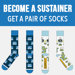 Become a Sustaining Member and Get a pair of WMFE Socks!
