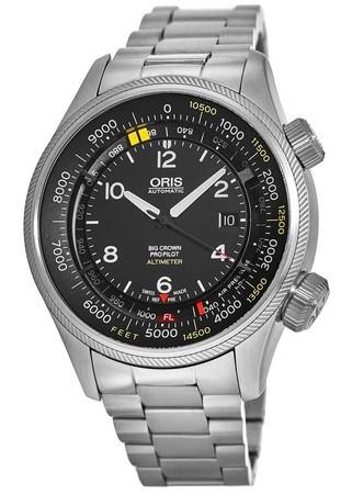 ffe700382 Oris Big Crown ProPilot Altimeter with Feet Scale Black Dial Stainless  Steel Men's Watch 01 733