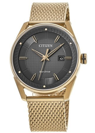 Citizen Drive  Grey Dial Rose Gold Tone Stainless Steel Men's Watch BM6983-51H