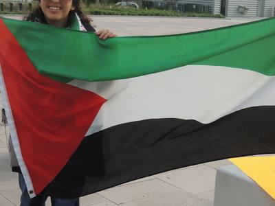 Palestine flag. Palestinian