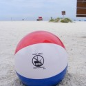 """Don't Drill Our Coasts"" beach ball. offshore drilling"