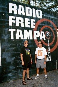 The wall on the old WMNF building