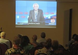 Bernie Sanders Viewing Party Photo by Samuel Johnson