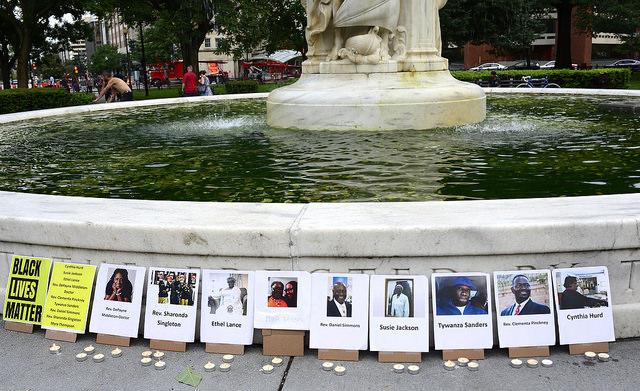 """DC Vigil for Charleston Murders 26."" by Stephen Melklesthlan used under Creative Commons license"