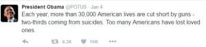 obama tweet guns