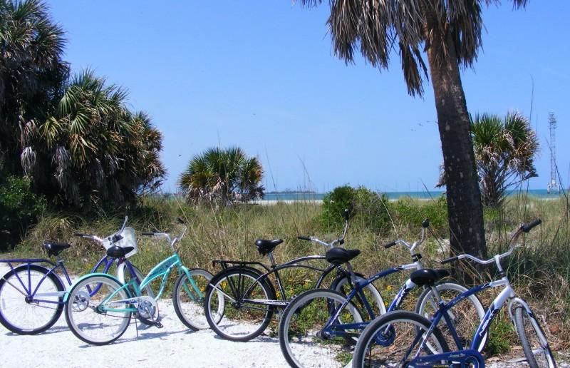 bicycles at Ft. DeSoto