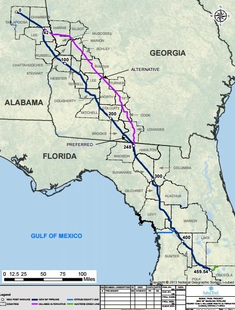 Sabal Trail route