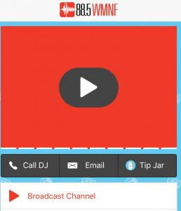 Easily tcall or email the dj.