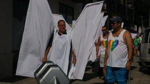Angel wings at Pulse shooting funeral