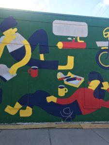 Daniel Mrgan mural in progress