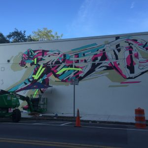 Arlin mural in progress