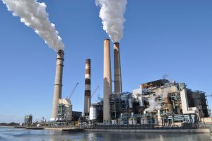 TECO power plant in Apollo Beach Florida burns coal and releases water vapor plus greenhouse gases like carbon dioxide that contribute to climate change