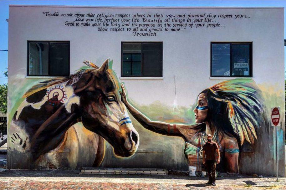 david rothman with his mural photo by Jasmina Janjic     - WMNF