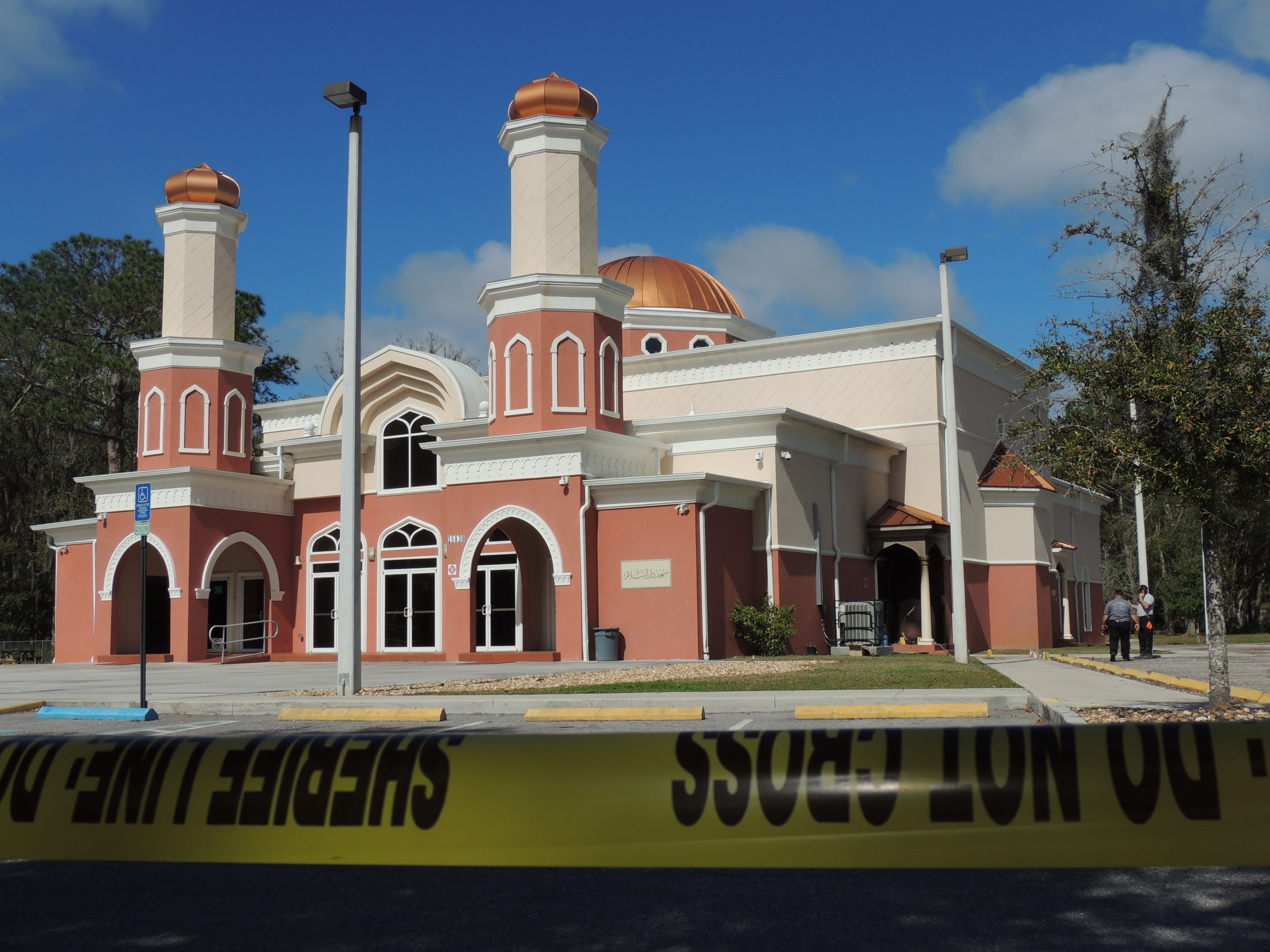 hate crime mosque fire mosque arson