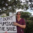 pesticide protester