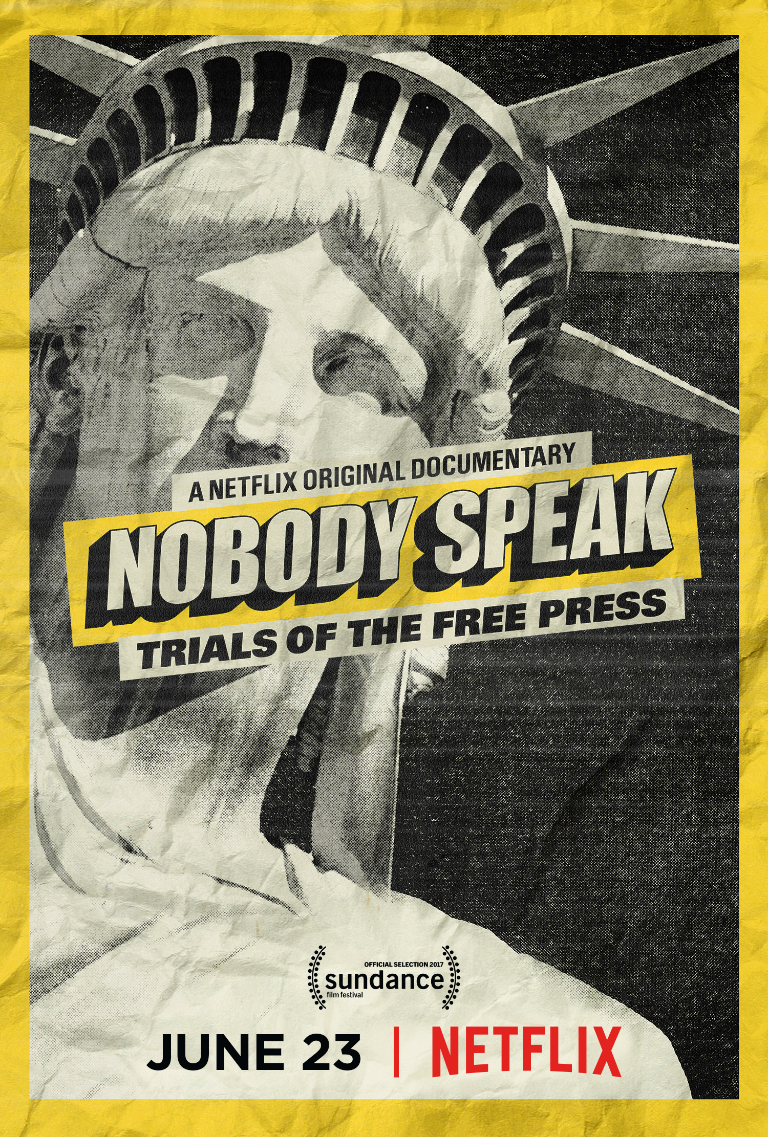 Poster image for the film Nobody Speak