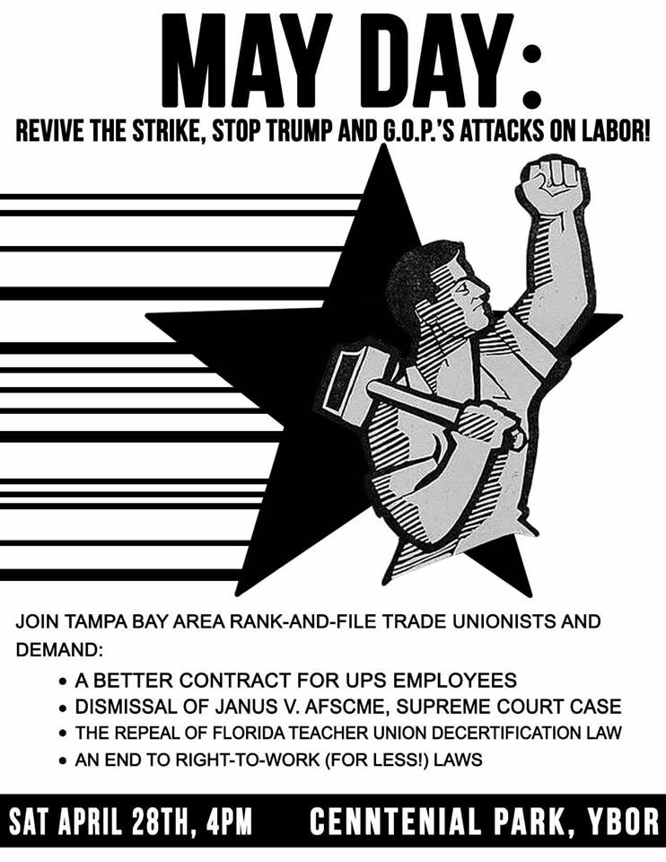 May Day labor union rally revive the strike - sanctuary campus