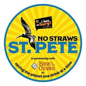 No Straws St. Pete logo plastic plastics