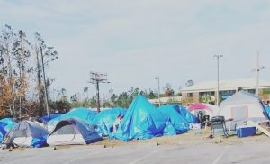 Hurricane Michael tent city