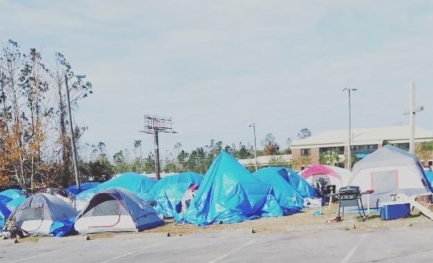 Hurricane Michael tent city
