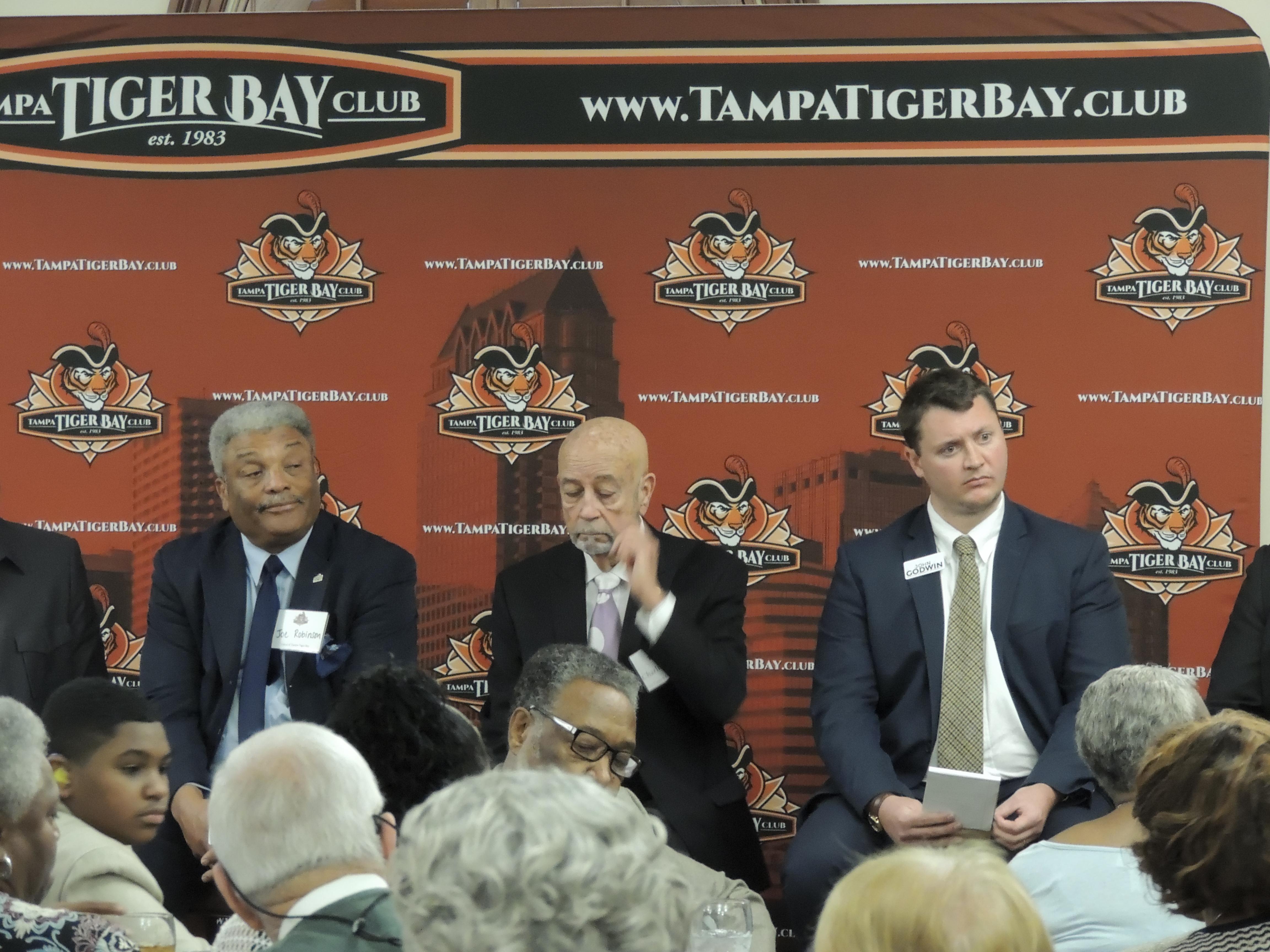 Tampa City Council candidates at Tampa Tiger Bay Club