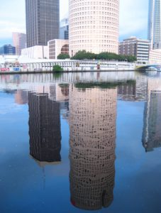 Tampa beercan building reflection