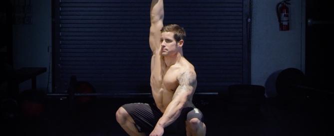 Single Arm Dumbbell Overhead Squat