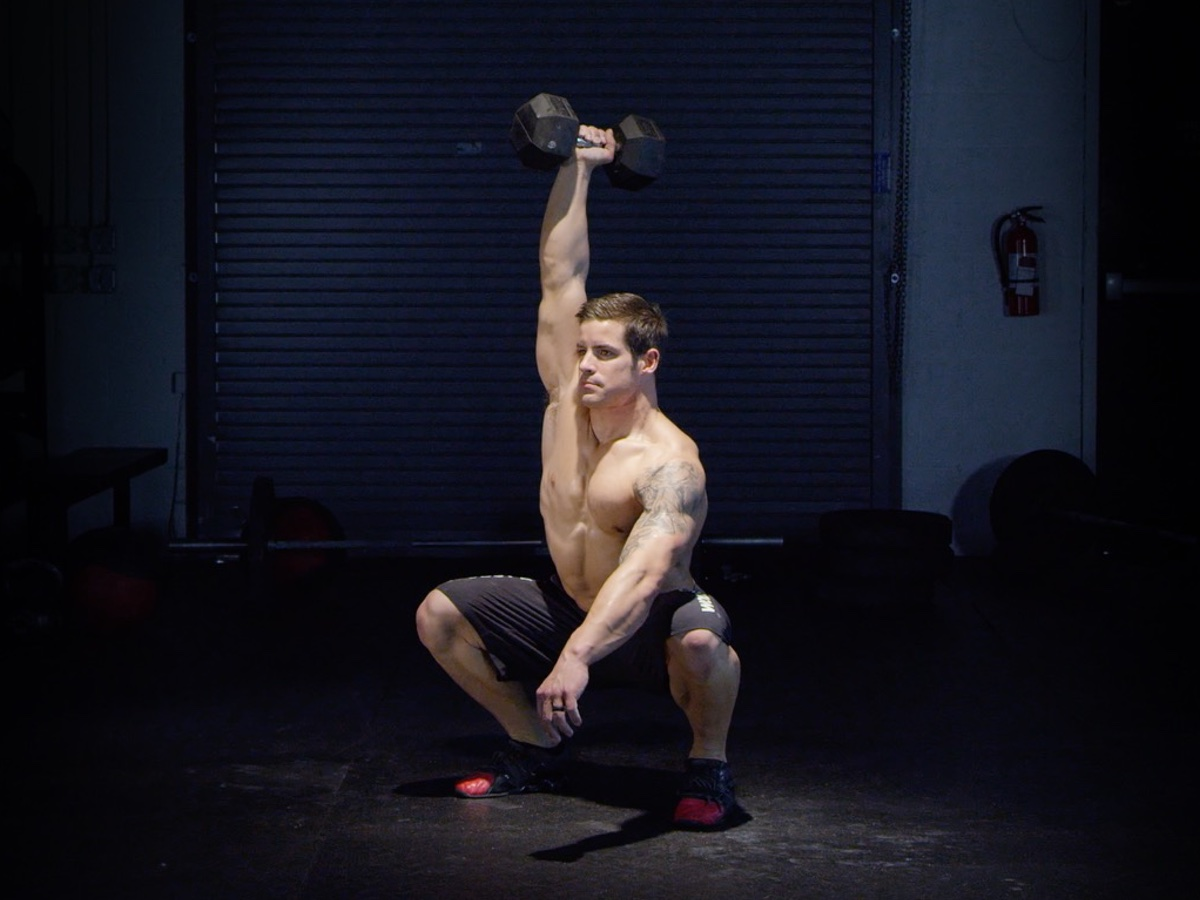 Single Arm Dumbbell Overhead Squat